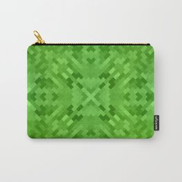 LAWN bright emerald green monotone subtle pattern Carry-All Pouch