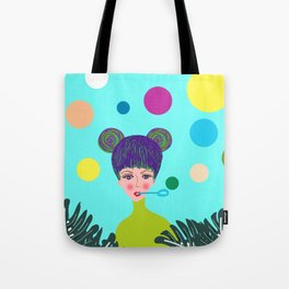 Playful girl Tote Bag
