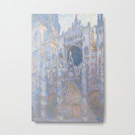 Monet, Rouen Cathedral Series, west facede (La Cathédrale de Rouen) Metal Print