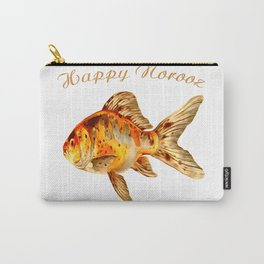 Elegant Happy Norooz Goldfish Persian New Year Carry-All Pouch