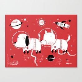 Astro dogs Canvas Print