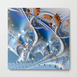 Postal service - An abstract fractal illustration Metal Print