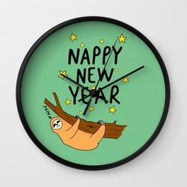Nappy New year Wall Clock