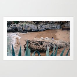 Beach Cascais Art Print