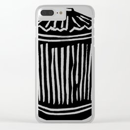 Trash Can Clear iPhone Case