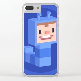 Cute caterpillar character Clear iPhone Case