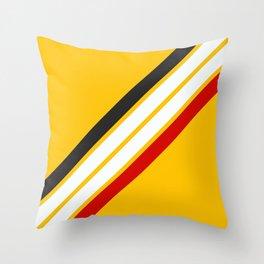Oldschool Retro Stripes Throw Pillow