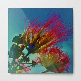 Abstract Mimosas Metal Print