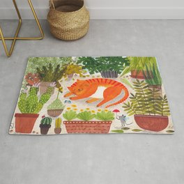 The Ginger Cat of leisure Rug