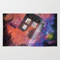 tardis Area & Throw Rugs featuring TARDIS by bb0t