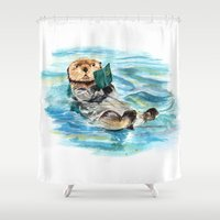otter Shower Curtains featuring Otter by Anna Shell