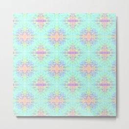 Rainbow Triangles Pattern Metal Print