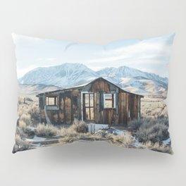 Lone Cabin Scene Pillow Sham