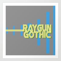raygun gothic yellow Art Print