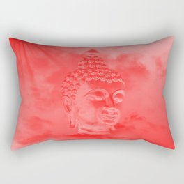 buddha in colored clouds with artificial sun Rectangular Pillow