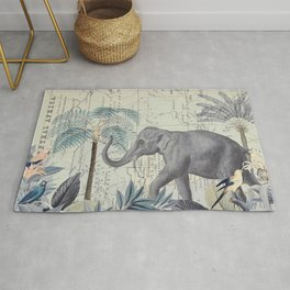 The Journey of the Elephant Rug