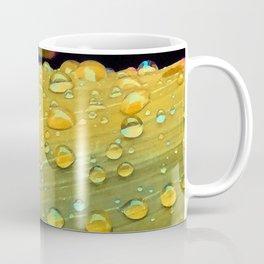 Spacey Raindrops in Mustard Yellow Coffee Mug