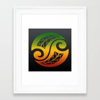 reggae Framed Art Prints featuring Reggae Poloneisan by Lonica Photography & Poly Designs