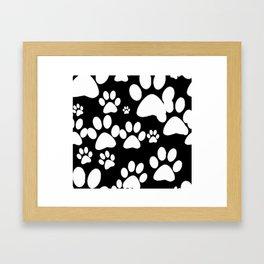 Paw Print Pattern Framed Art Print