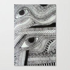 2 eyes Canvas Print