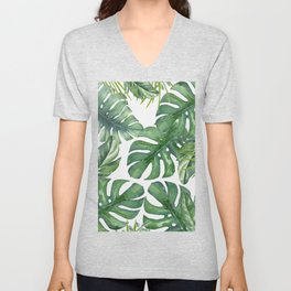 Monstera Leaves Unisex V-Neck