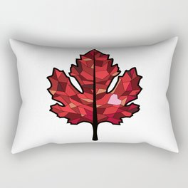 A Maple Leaf with Heart Rectangular Pillow