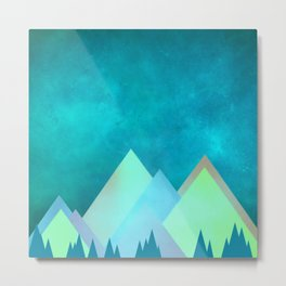 Vivid Mountains Metal Print