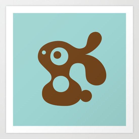 Blue Bunny Art Print
