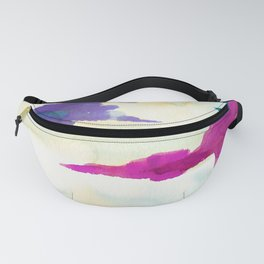 Colourful Loch Abstract Watercolor Painting Fanny Pack