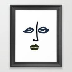 Simple Face Framed Art Print