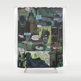 Bruce Wayne Comic Collage Shower Curtain