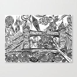 Jumbled London Canvas Print