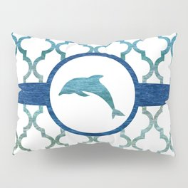 Dolphins: Tropical Water Moroccan Pattern Pillow Sham