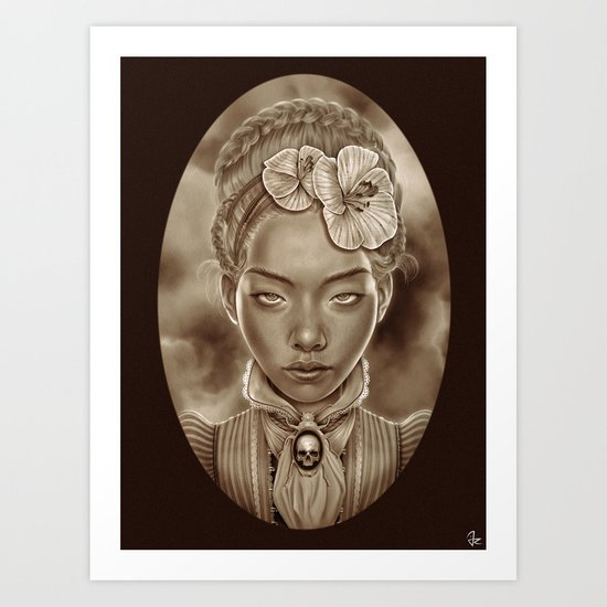 """VICTORIAN GHOST"" Art Print"