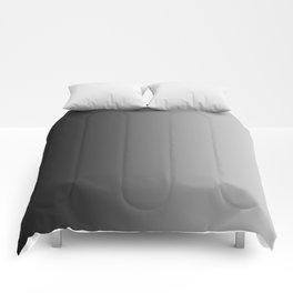 Black to Gray Vertical Linear Gradient Comforters