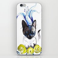 mew iPhone & iPod Skins featuring Lily Mew by Sarah