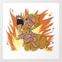Explosion Surprise Art Print