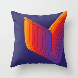 Silly Strings Throw Pillow