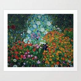Flower Garden Riot of Colors by Gustav Klimt Art Print