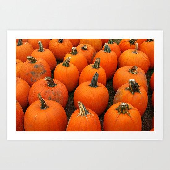 Plenty of Pumpkins! Art Print