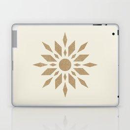 Sunburst Retro - Gold Laptop & iPad Skin