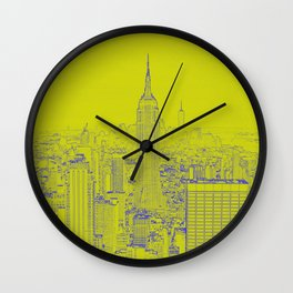 Empire State - Green Wall Clock
