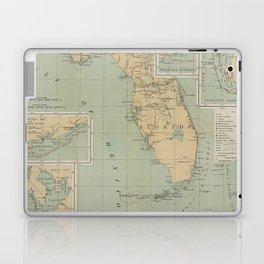 Vintage Lighthouse Map of Florida (1898) Laptop & iPad Skin