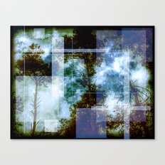 forest memories Abstract Blue Fire Canvas Print