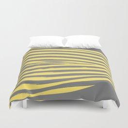 Yellow & Gray Stripes Duvet Cover