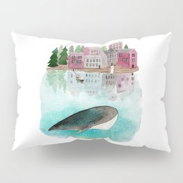 A whale is passing by Pillow Sham