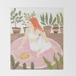 Yoga + Pizza Throw Blanket