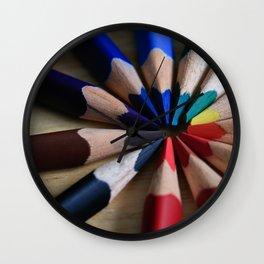 Interlocking Colors Wall Clock