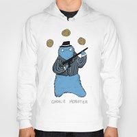 cookie monster Hoodies featuring Cookie Mobster by Sophie Corrigan