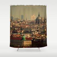 vienna Shower Curtains featuring Vienna 06 by MehrFarbeimLeben